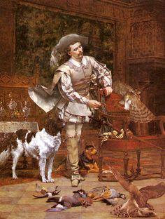 Paul Alphonse Viry - The Falconer (1878)