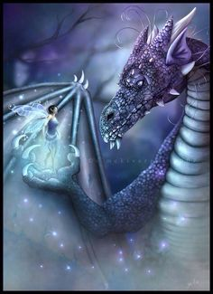 fairy & dragon - purples