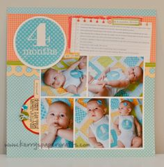Scrapbook layout, 5 Photos, 3 Portraits, 2 Landscapes, 1 page