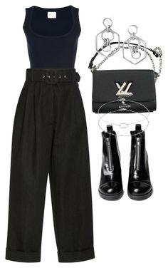 """Untitled #2609"" by mariie0h ❤ liked on Polyvore featuring Khaite, Isa Arfen, Louis Vuitton, BaubleBar and Accessorize"