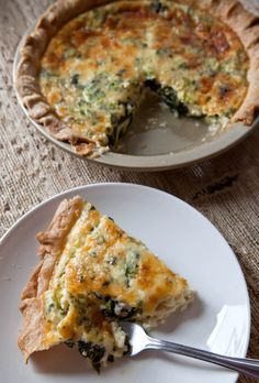 Spinach, Cheese & Green Onion Pie with Dill and Fines Herbes | The Artful Gourmet