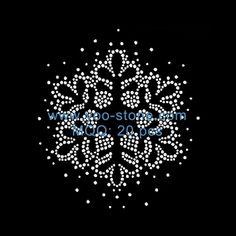 New Hot Fix Snowflake Rhinestone Motif Design