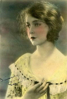 Lillian Gish - Autographed tinted photograph