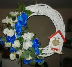 Wianek na drzwi, dekoracje do domu, Hampton styl #wianek #drzwi #decoration #diy #hampton #homemade