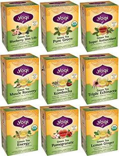 Yogi Tea Revitalizing Energy Green Tea 9 Flavor Variety Pack (Pack of 9, 144 Tea Bags Total) ** Read more reviews of the product by visiting the link on the image.