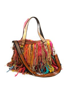 This Fringe Multi Color Handbag Is The Perfect Way To Add A Neutral Ensemble