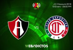 Atlas vs Toluca, Liga MX Clausura 2018 ¡En vivo por internet! - https://webadictos.com/2018/01/19/atlas-vs-toluca-liga-mx-c2018/