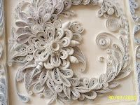 Stunning all-white quilling display