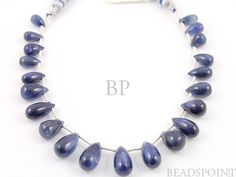 Natural AAA Quality Gemstone Blue Sapphire Tear by Beadspoint, $425.00
