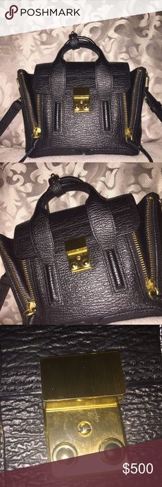 Phillip Lim mini Pashli Black with gold hardware ( normal wear on hardware ) comes with dustbag and original tags 3.1 Phillip Lim Bags Crossbody Bags