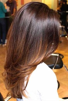 Perfect hair color ideas for women Perfect Hair Color, Hair Color For Women, Long Layered Hair, Long Hair Cuts, Medium Hair Styles, Long Hair Styles, Brunette Hair, Brunette Color, Great Hair