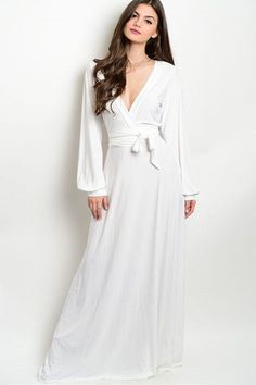 A Cut Above White Wrap Maxi Dress - White - Find the perfect outfit for any occasion at ShopLuckyDuck.com