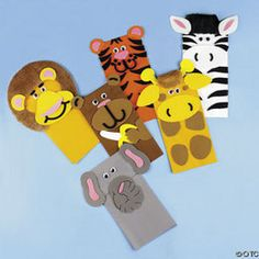 Oriental Trading Company Zoo Animal Paper Bag Puppet Craft Kit
