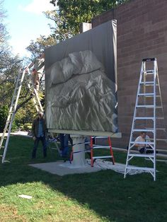 """""""Felix Gonzalez-Torres's 'Untitled' (1991) is almost ready and opening Monday, October 21, 2013."""" (Princeton University Ar..."""