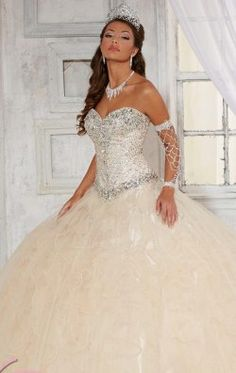 Embellished Ruffled Gown by Quinceanera Collection 26779