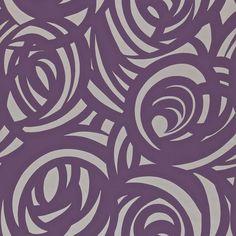 Vortex Wallpaper - Silver/Aubergine (110078) - Harlequin Momentum