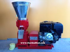 small gas pellet mill for home use. Make pellets at home anytime. Very easy to use.