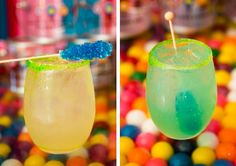 Sour Patch Margarita at a birthday party at Dylan's Candy Bar.
