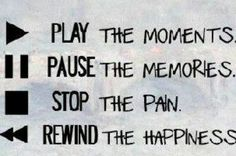 Play. Pause.stop and rewind
