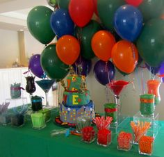 Mutant Ninja Turtle party by www.candybarcouture.com