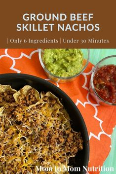 Ground Beef skillet nachos make an easy weeknight meal ready in less than 30 minutes and packed with healthy foods like lean beef and veggies. Healthy Beef Recipes, Healthy Lunches, Healthy Foods, Toddler Recipes, Baby Food Recipes, Skillet Nachos, Nutrition Articles, Easy Weeknight Dinners, Kid Friendly Meals
