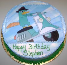 Perry Platypus Birthday Cake Made by Disney's Boardwalk Bakery!