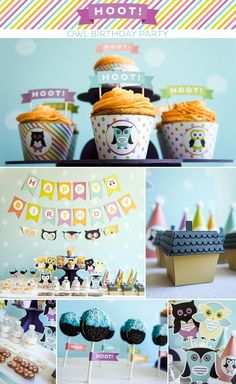 Hoot! Owl Themed Party via Kara's Party Ideas | KarasPartyIdeas.com #hoot #owl #themed #budget #friendly #party #ideas