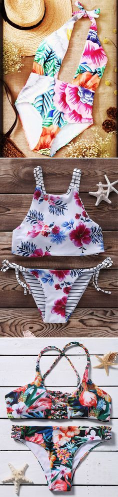 Blossoming Chic: The new season flora print | swimwear,bikini,one pieces,dress,dresses,tops,women fashion | #Floral print