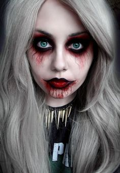 Hillbilly zombie Halloween sexy makeup for Women   Scary Halloween Makeup Ideas Women