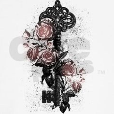 victorian lock key tattoo for women - Google Search Have the top of the key shaped like my knee lace (Angel)