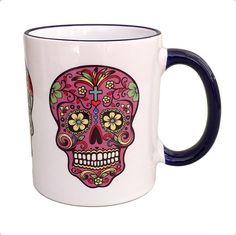 Sugar Skull Mug Visit our FB page at: https://facebook.com/mysugarskulls #mysugarskulls #sugarskulls #sugarskull #calavera #skulls #skull #dayofthedead #diadelosmuertos