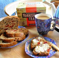 Yorkshire Tea, Tea Cosies and Yorkshire Tea Fruit Loaf for Afternoon Tea. This loaf is simplicity itself, and all you have to remember is to soak the fruit the night before you want to make it; it is very moist and it keeps well ~ it's also wonderful when toasted after a few days. It's a real comfort bake, a warm cosy tea loaf with an impeccable heritage in British tea-time baking