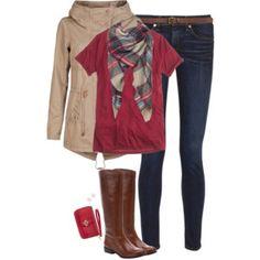 Red, khaki & plaid