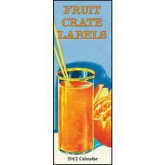 Fruit Crate Labels 2012 Vertical Wall Calendar