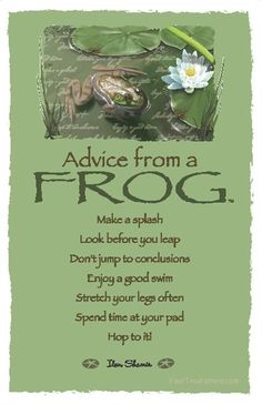 ☆ Advice From a Frog ~:By Ilan Shamir ☆