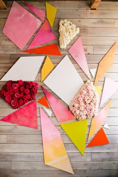 geometric floral backdrop