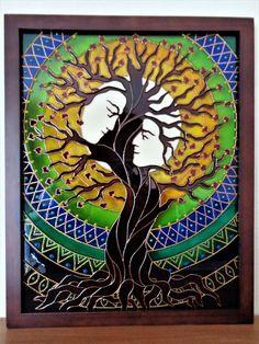 Árbol de amor arte 15 x 12 árbol de familia de