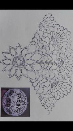 Best 12 Una magnifica idea muy creativa y lucidora Crochet Christmas Ornaments, Christmas Crochet Patterns, Holiday Crochet, Crochet Snowflakes, Handmade Ornaments, Christmas Crafts, Crochet Ball, Thread Crochet, Crochet Doilies
