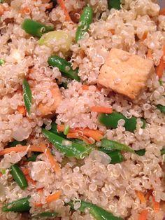 Quinoa with tofu and veggies