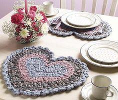 Rag Crochet Place Mats pattern by Linda Wellman