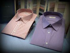 Custom shirts made with Grandi & Rubinelli, fabric makers of Brioni, Kiton, and Cesare Attolini.