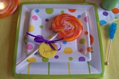 candy themed place setting