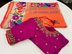 Sarees with Stitched Blouse – Page 4 – Sakkhi Style Cutwork Blouse Designs, Kids Blouse Designs, Pattu Saree Blouse Designs, Hand Work Blouse Design, Simple Blouse Designs, Bridal Blouse Designs, Blouse Neck Designs, Sari Blouse, Hand Designs