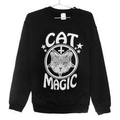Cat Magic sweatshirt UNISEX sizes S, M, L, XL
