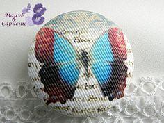 fabric button, butterfly de la boutique Mauveetcapucine sur Etsy
