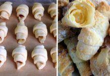 Cornulețe pufoase cu gem – Se fac foarte ușor și se mențin proaspete mai multe zile Garlic, Bakery, Deserts, Sweets, Cheese, Cookies, Vegetables, Food, Polish