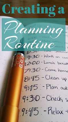 Creating a planning routine is a great way to improve your organization. By creating a planning routine you can start building better habit! Bujo, Essayist, Planner Tips, Happy Planner, Planner Supplies, Life Planner, Filofax, Time Management Tips, Project Management