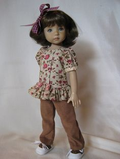 "CARMELS made to fit 13"" Little Darling Effner Vinyl doll by Darla"