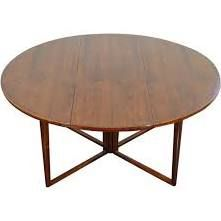 drop leaf round table danish - Google Search