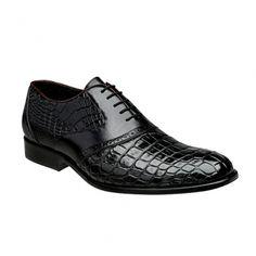 0ae3d61939f CALZADO CUADRA ~ Blucher de cocodrilo genuino con suela de cuera Zapatos  Nike